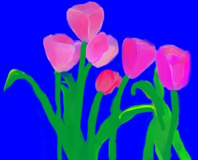 Painting - Pink Tulips by Christine Quimby