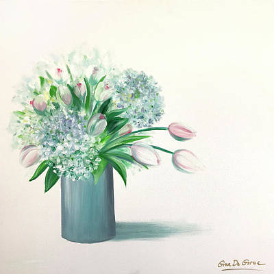 Painting - Pink Tulips by Gina De Gorna