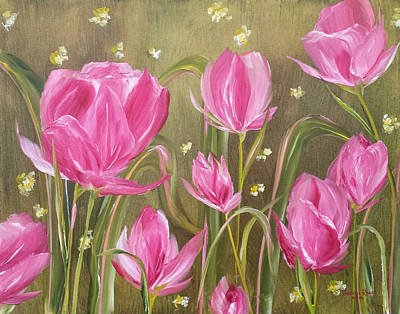 Painting - Pink Tulips by Judith Rhue