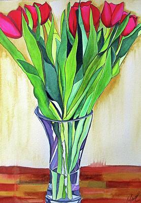 Painting - Pink Tulips by Sacha Grossel
