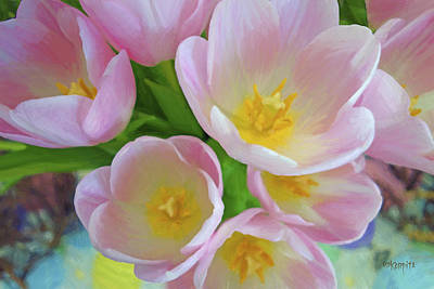 Photograph - Pink Tulips - Spring Blossoms by Rebecca Korpita