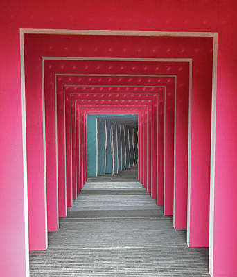 Photograph - Pink Tunnel 1 by Ron Kandt