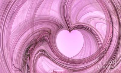 Digital Art - Pink Valentine by Abbie Shores