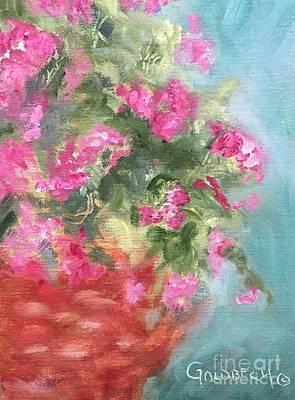 Painting - Pink Verbena by Kathy Lynn Goldbach