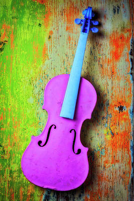 Pink Violin Art Print by Garry Gay