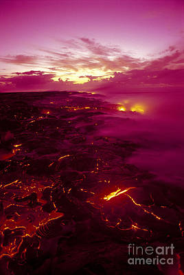 Pink Volcano Sunrise Art Print by Ron Dahlquist - Printscapes