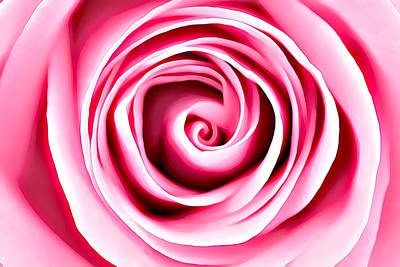 Mixed Media - Pink Vortex by Lucia Sirna