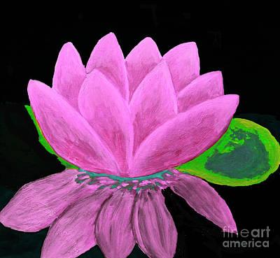 Painting - Pink Waterlily, Illustration by Irina Afonskaya