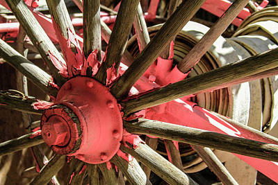 Photograph - Pink Wheel Abstract 1 by Bonnie Follett
