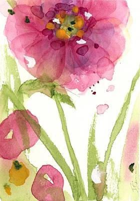 Painting - Pink Wildflower by Dawn Derman