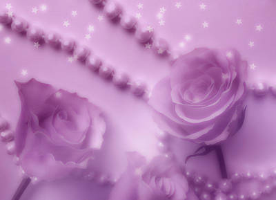 Photograph - Pink Winter Roses And Pearls  by Johanna Hurmerinta