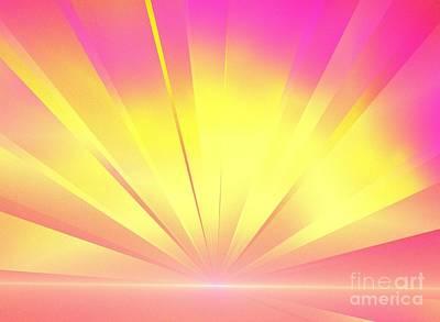 Digital Art - Pink Yellow Light by Kim Sy Ok