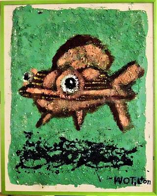 Mixed Media - Pinkfish by William Tilton