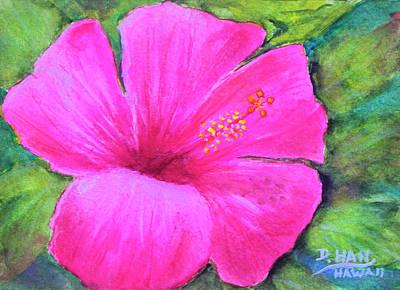 Pinkhawaii Hibiscus #505 Art Print by Donald k Hall
