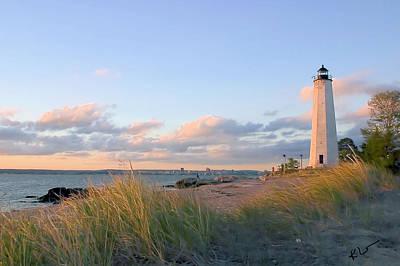 Photograph - Pinkish Lighthouse by Karol Livote