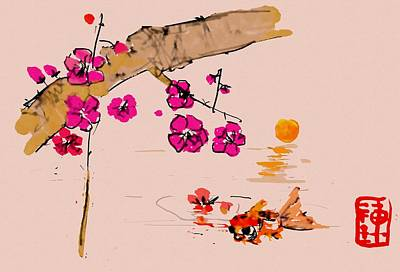 Digital Art - Pinkness by Debbi Saccomanno Chan