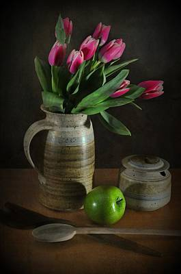 Bowl Of Flowers Photograph - Pinky by Diana Angstadt
