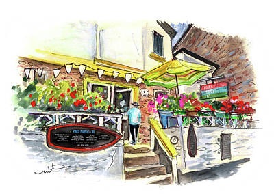 Painting - Pinky Murphys Cafe In Fowey by Miki De Goodaboom