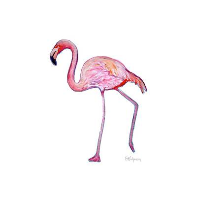 Painting - Pinky The Flamingo by Kristen Abrahamson