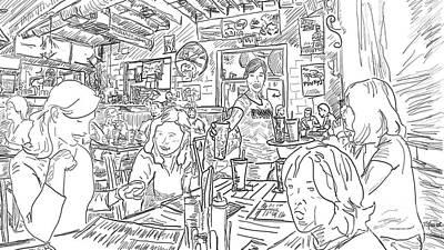 Must Art Drawing - Pinkys Westside by Robert Yaeger