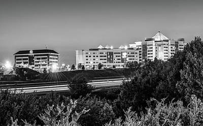 Photograph - Pinnacle Hills Cityscape - Rogers - Northwest Arkansas - Black And White by Gregory Ballos