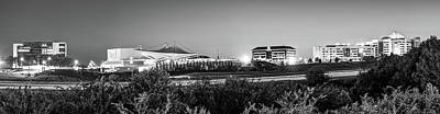 Photograph - Pinnacle Hills Skyline Panorama - Bentonville - Rogers - Northwest Arkansas - Black And White by Gregory Ballos