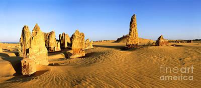 Photograph - Pinnacles Desert At Sunrise Panorama by Warren Photographic