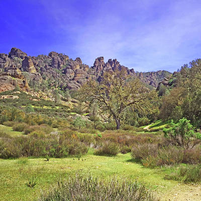 Photograph - Pinnacles National Park Watercolor by Art Block Collections