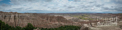 Surrealism Royalty Free Images - Pinnacles Overlook Panorama  Royalty-Free Image by Michael Ver Sprill