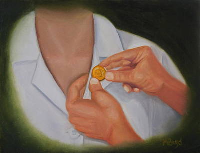 Painting - Pinning A Tradition Of Nursing by Marlyn Boyd