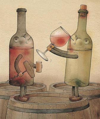 Pinot Noir And Chardonnay Art Print by Kestutis Kasparavicius