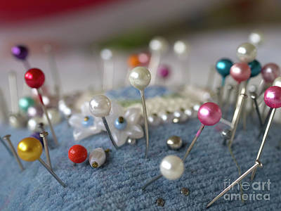 Quilting Machine Photograph - Pins And Needles by Gillian Singleton