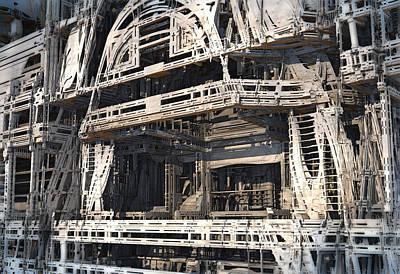 Digital Art - Pinski Theater Ruins by Hal Tenny