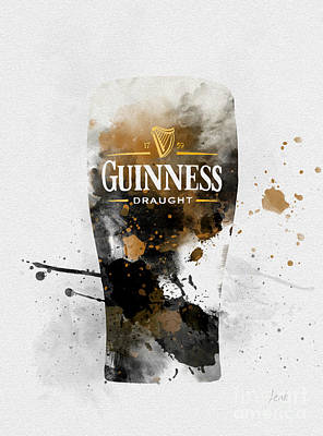 Pint Of Guinness Art Print by Rebecca Jenkins