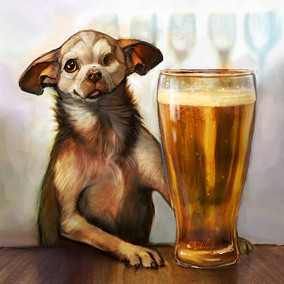 Beer Painting - Pint Sized Hero by Sean ODaniels