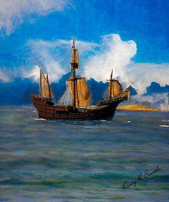 Digital Art -  Pinta Replica by Rusty R Smith