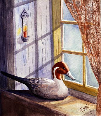 Painting - Pintail Decoy by Marilyn Smith