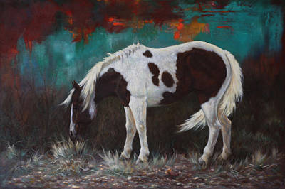 Pinto Horse Painting - Pinto by Harvie Brown