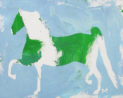 Painting - Pinto Saddlebred by Candace Shrope