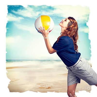 Enjoyment Photograph - Pinup Beach Fun by Jorgo Photography - Wall Art Gallery