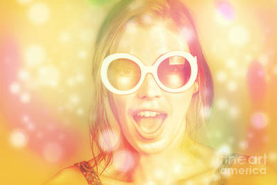 Psychedelic Photograph - Pinup Beauty In Excited Fashion Abstract  by Jorgo Photography - Wall Art Gallery