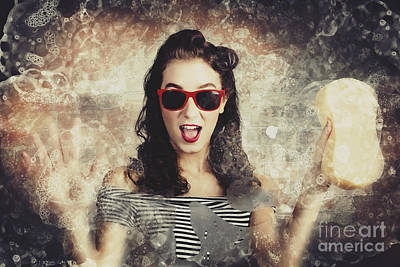 Photograph - Pinup Car Wash Girl by Jorgo Photography - Wall Art Gallery