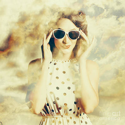 Woman Head Photograph - Pinup Fashion Dreams by Jorgo Photography - Wall Art Gallery