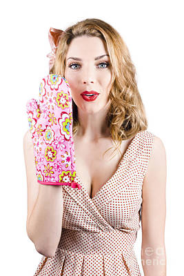 Shock Photograph - Pinup Girl With Cookery Secrets And Handy Tips by Jorgo Photography - Wall Art Gallery