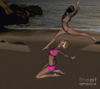Digital Art - Pinups Dancing by Stanley Morganstein