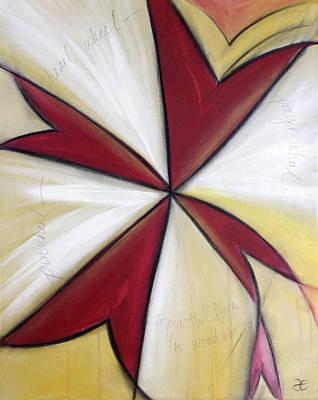 Painting - Pinwheel Heartwheel by Anna Elkins