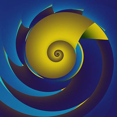 Digital Art - Pinwheel by Mike Turner