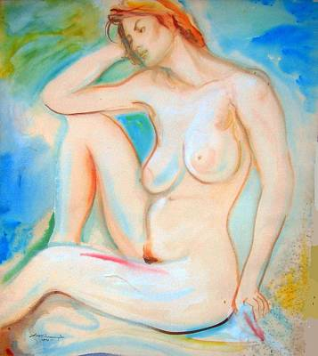 Painting - Pinwheel Nude by Scott Cumming