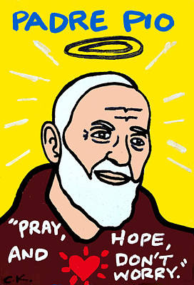 Padre Pio Painting - Pio Of Pietrelcina by Chris Kruse