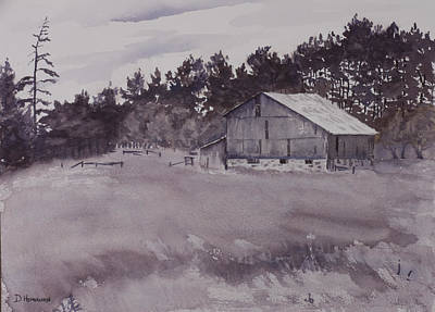 Pioneer Barn Art Print by Debbie Homewood